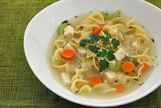 Vegetarian Chicken Noodle Soup | Recipe | Noodle Soups, Chicken Noodle ...