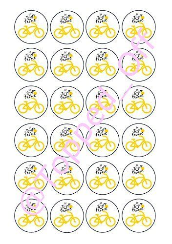 24 Pre-cut Tour de France bicycle round edible cup cake topper decorations by Topped Off (FREE UK POSTAGE) Topped Off http://www.amazon.co.uk/dp/B0119U1WZG/ref=cm_sw_r_pi_dp_STNRwb0MA5QNT