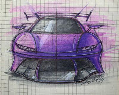 Always Creative: Purple Haze Koenigsegg Concept Sketch