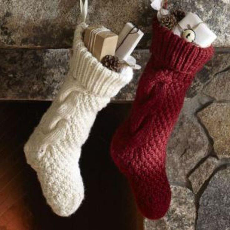 DIY Sweater Sleeve Christmas Stockings