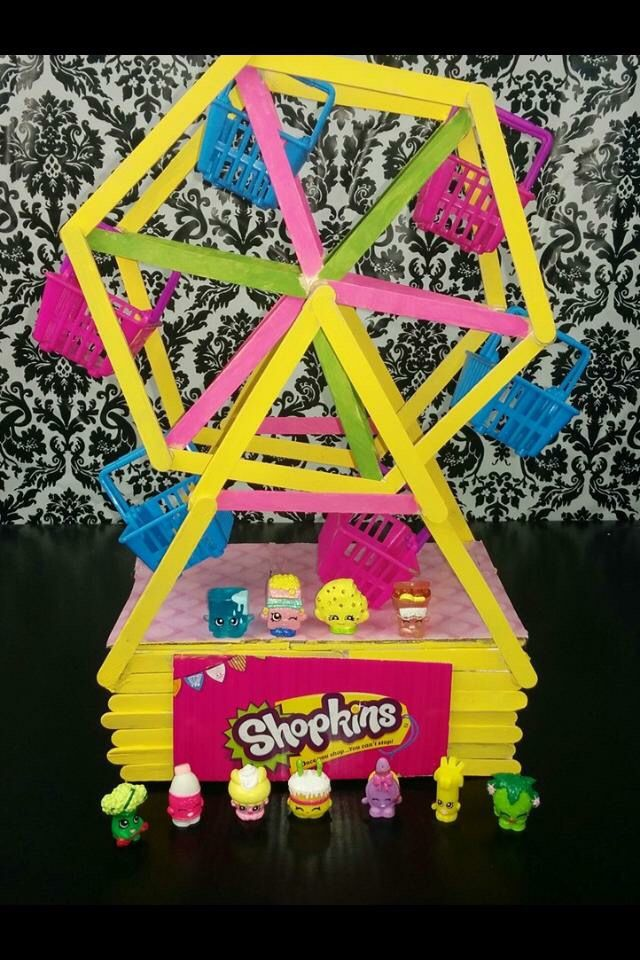 Found pic on Facebook- Shopkins Craft Ferris Wheel