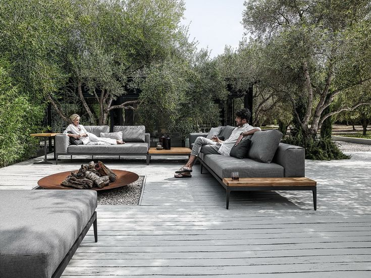 Salón al aire libre GLOSTER | REJILLA | MÖBELWERK Wien – inspirierte Möbel für drinne …  – Garten