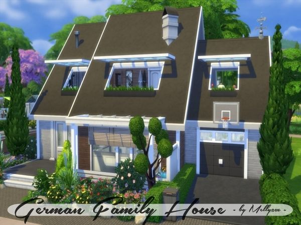 German Family House No Cc Made By Melly20x Sims 4 Haus Sims