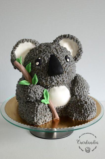 Koala buttercream cake