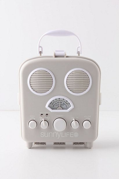 Tunes on the beach are a necessity, no? But who wants to get their technology sandy, salty and sunblocky? Tuck your iPod or iPhone inside of this nifty AM/FM speaker box and don't fret - the sand- and water-resistant plastic cover snaps tight, supplying a worry-free source of listening pleasure. $39.99