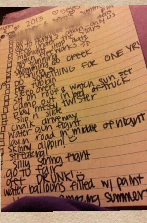 me & my boyfriends bucket list :)
