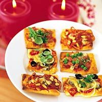 mini pizza hapjes