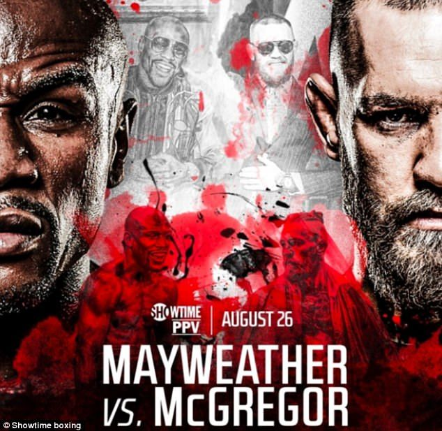 Conor McGregor predicts Floyd Mayweather knockout with mural
