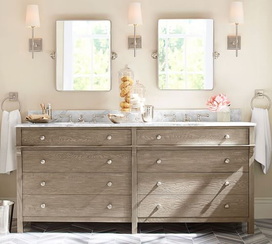 Toulouse Double Sink Console #potterybarn