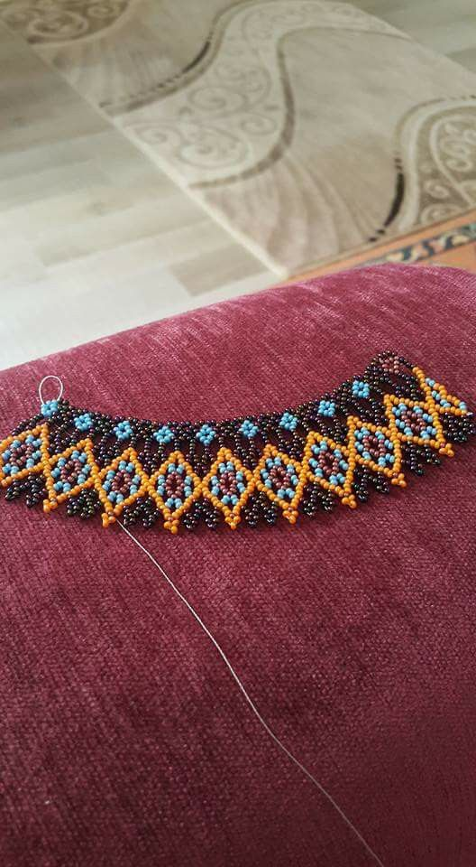 Unfinished collar.