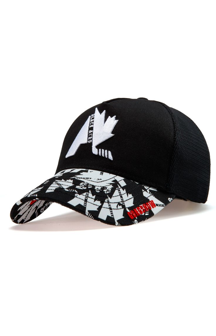 Black Aces Hockey Hat - Gongshow Gear - Lifestyle Hockey Apparel