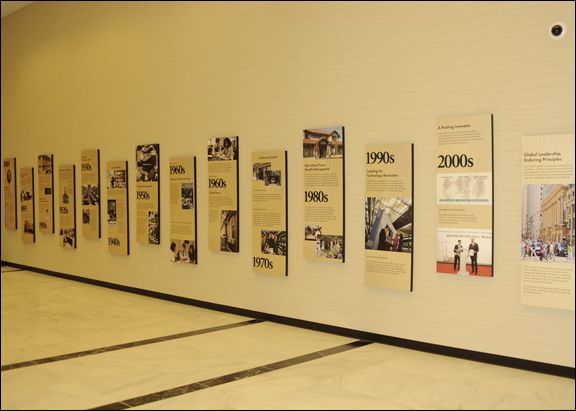 What NOT to do - NT - History of Northern Trust Wall Display by Marc Robertson, via Behance