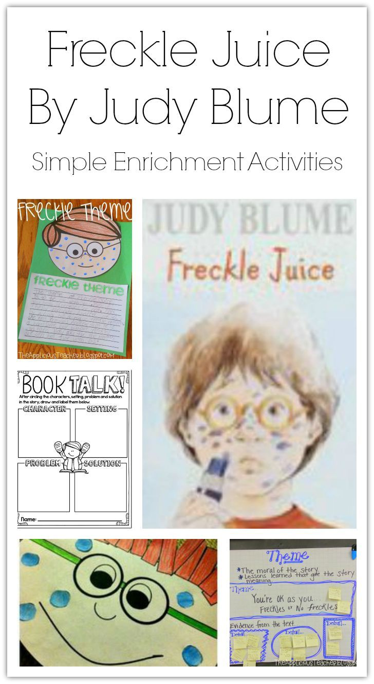 worksheet Freckle Juice Worksheets 17 ideas about freckle juice on pinterest reading comprehension simple enrichment activities for by judy blume