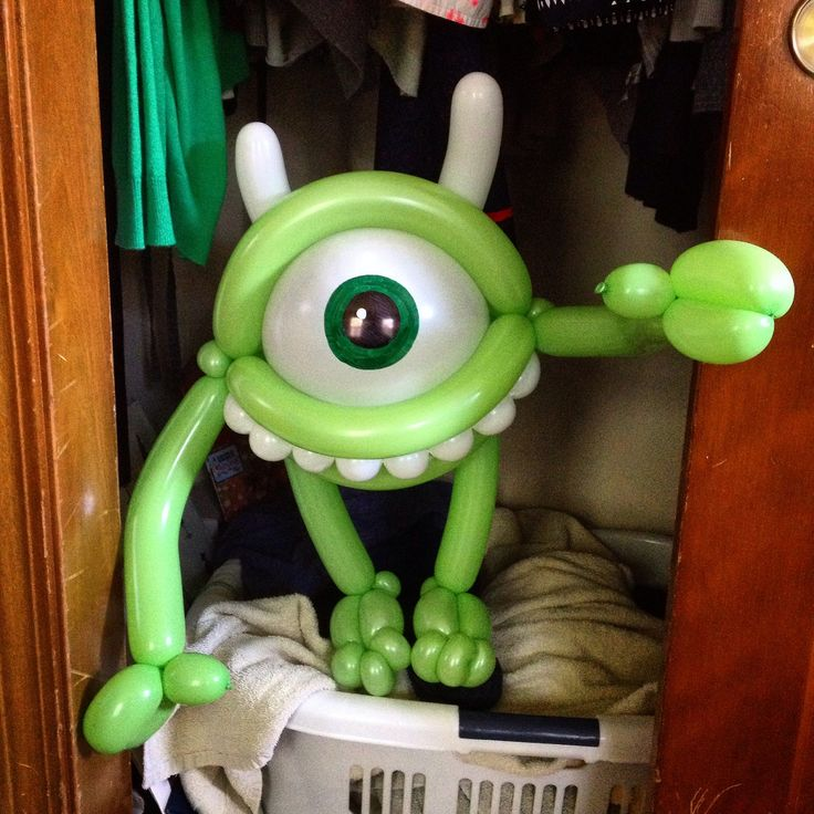 Day 308: Mike Wizowski (#Disney's #MonstersInc.) #Balloons #BalloonAnimals