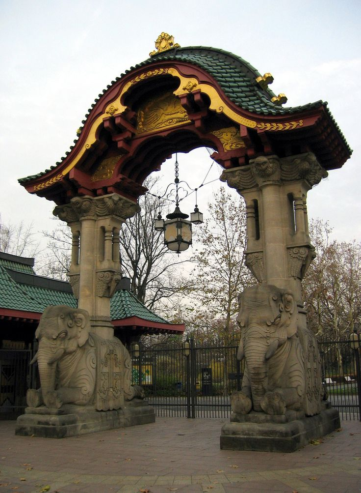 Elephant Gate #Berlin #Zoo #CityBreaks --- Really must go back to Germany- or move there!