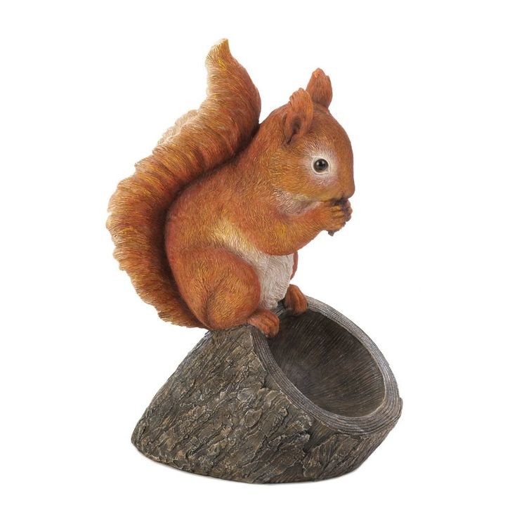 "Red Squirrel Bird Feeder. Decorative cute ""Red Squirrel"" bird feeder. This eclectic bird feeder will be perfect for the collector and makes great art for your back yard or porch."