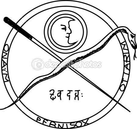 okkulte altes magisches symbol. ein vektorelement. — Stockilllustration #4624468