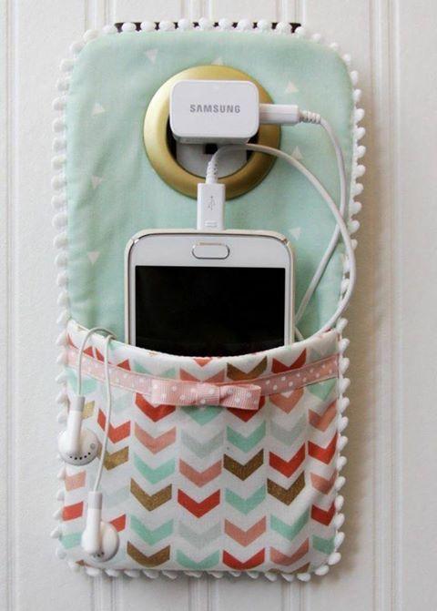 Phone Holder will keep it safe during charging #handmade #art #design
