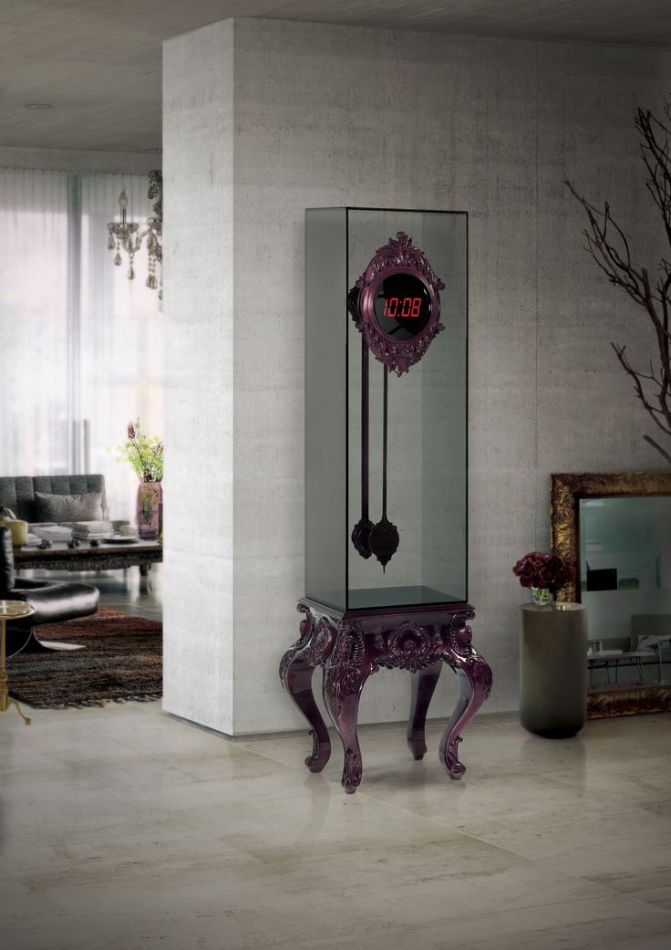 TIME GOES BY CLOCK By Boca do Lobo | www.bocadolobo.com #luxuryfurniture #interiordesign #inspirations #homedecorideas #exclusivedesign #contemporarydesign #clock