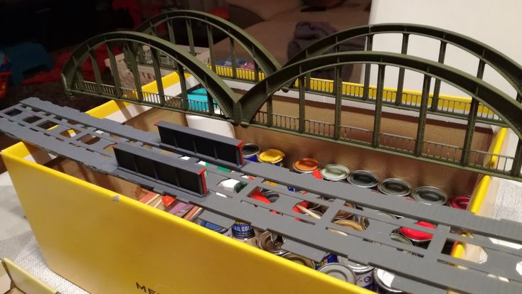 Double long bridge after Paint. It was built from 30 years old parts. Repaint needed :)