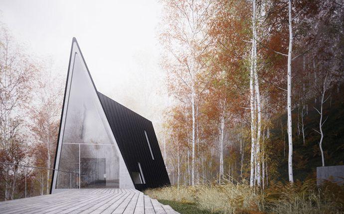 Geometry- Unusual Allandale House by William O'Brien Jr / @Design Rulz | #caserio #arquitectonico