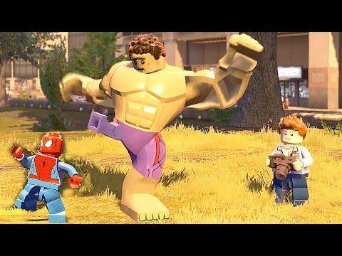 Spiderman Transformation vs Hulk A AOU Transformation  LEGO Marvel's  Av...
