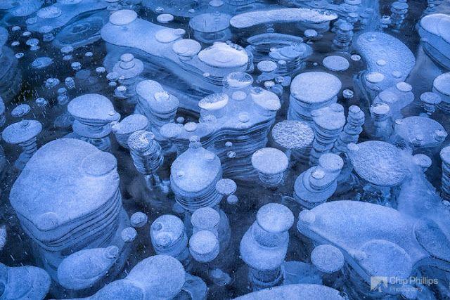 100tificas: Burbujas congeladas suspendidas debajo del Lago Abraham