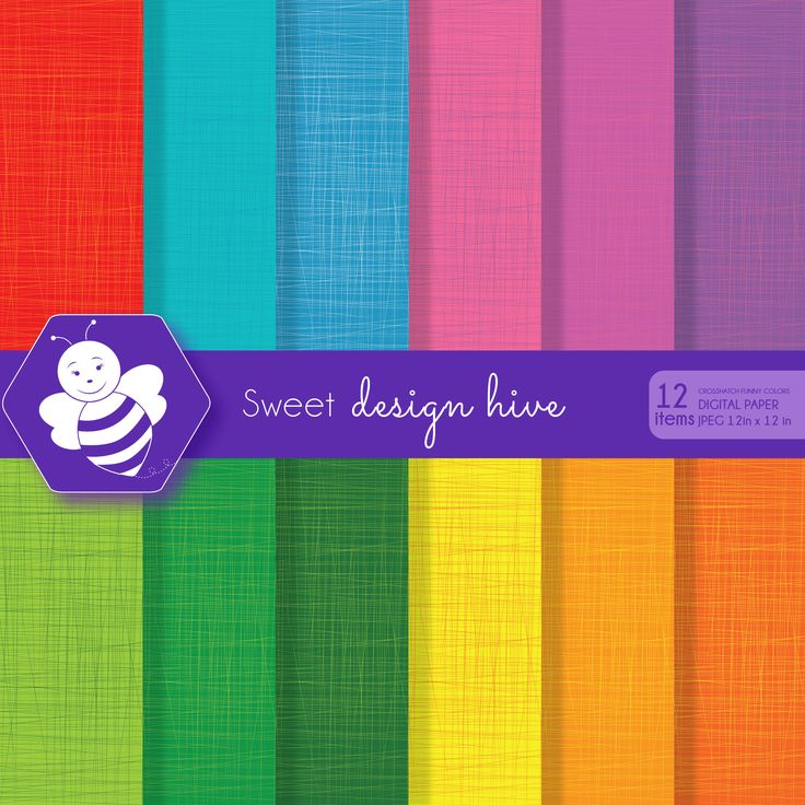 Crosshatch digital paper, Kid Colors, Funny Colors, commercial use, scrapbook papers, background, digital paper set, DP4060 by Sweetdesignhive on Etsy