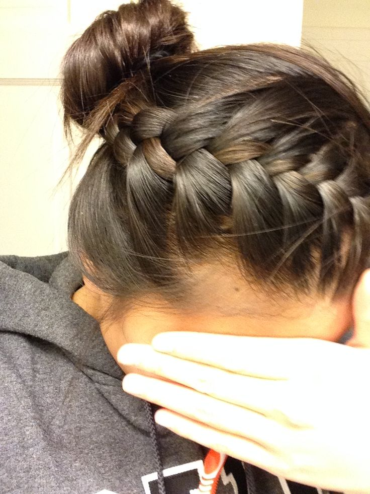 French Braid Into Bun Our Hairstyles Pinterest Buns