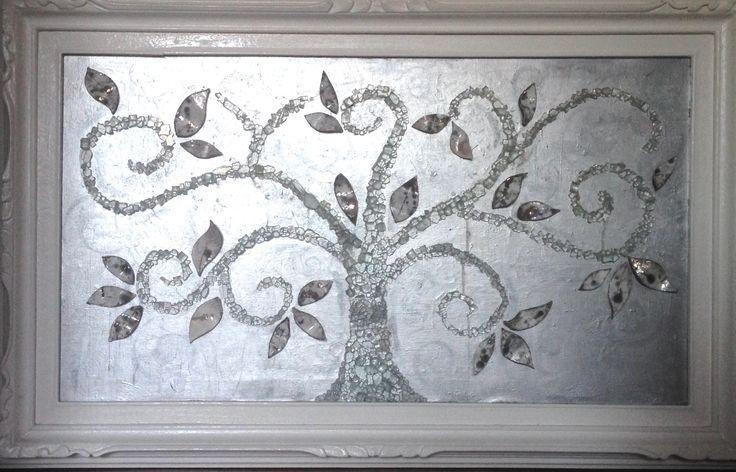 #quadro #albero della vita #the tree of life #acrilic #glass #raku