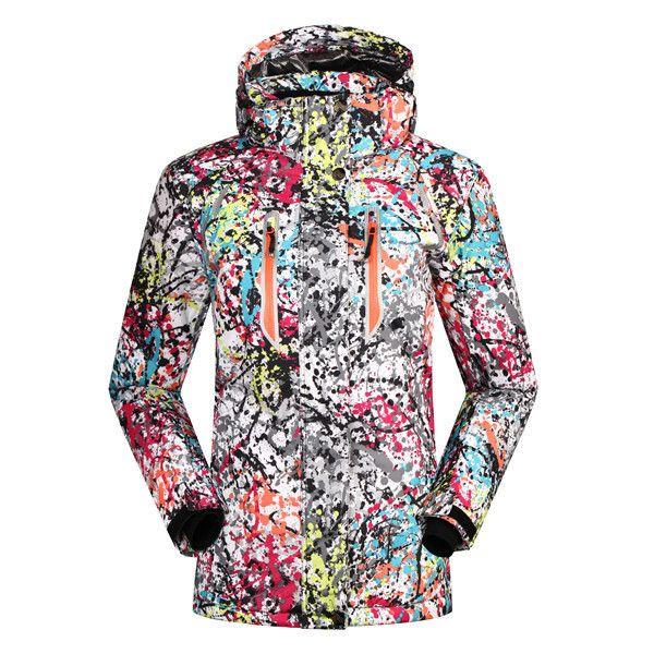 Winter Snowboard Jacket Women Waterproof Windproof Outdoor Ski Jackets Women Breathable Hooded Coat S- 2XL