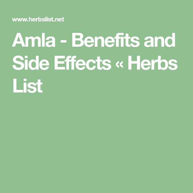 Amla - Benefits and Side Effects « Herbs List
