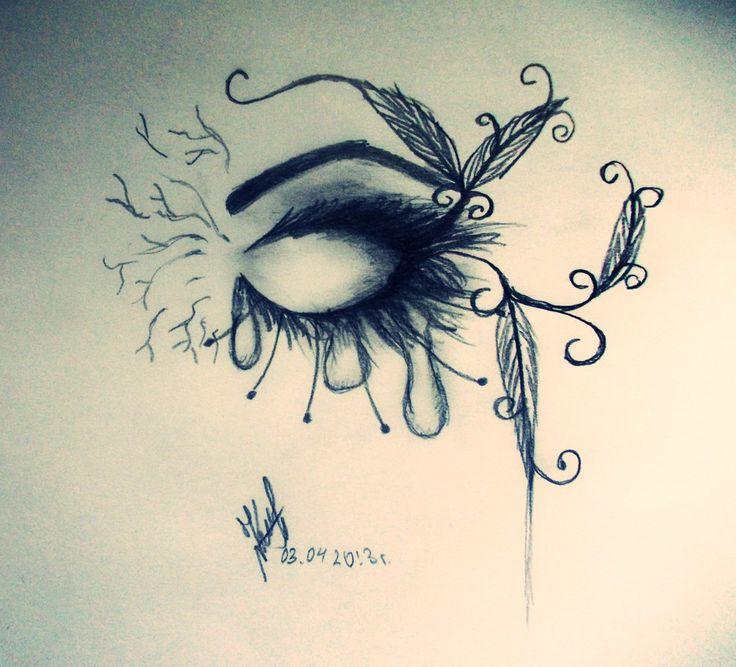 sad tears | Sad eye. Tears by ~artmaker77 on deviantART