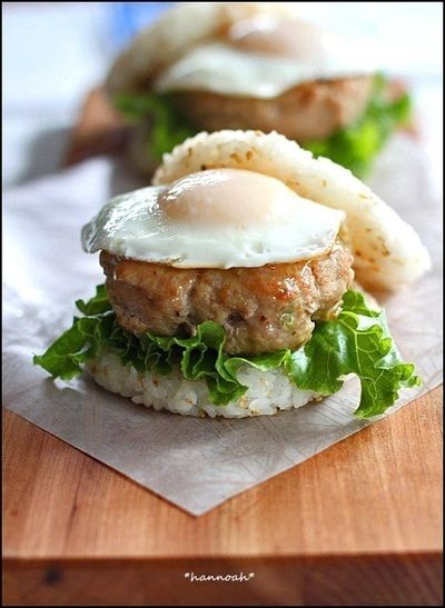 ご飯とご飯ではさんじゃおうお気に入りの具材でライスバーガーレシピ