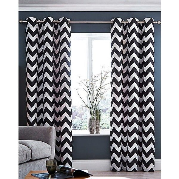 Zigzag Eyelet lined Curtains ($32) ❤ liked on Polyvore featuring home, home decor, window treatments, curtains, eyelet curtains, zigzag curtains, chevron home decor, chevron curtains and zig zag curtains