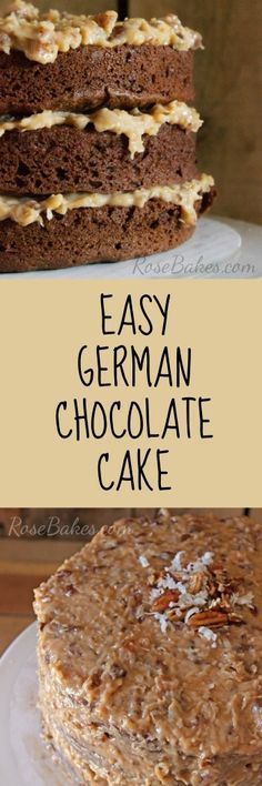 Easy German Chocolate Cake and Coconut Pecan Frosting Recipe