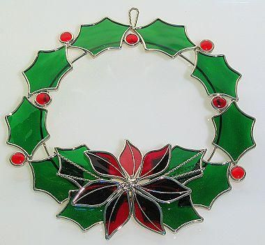 ≈ Christmas Wreath Stained Glass ≈