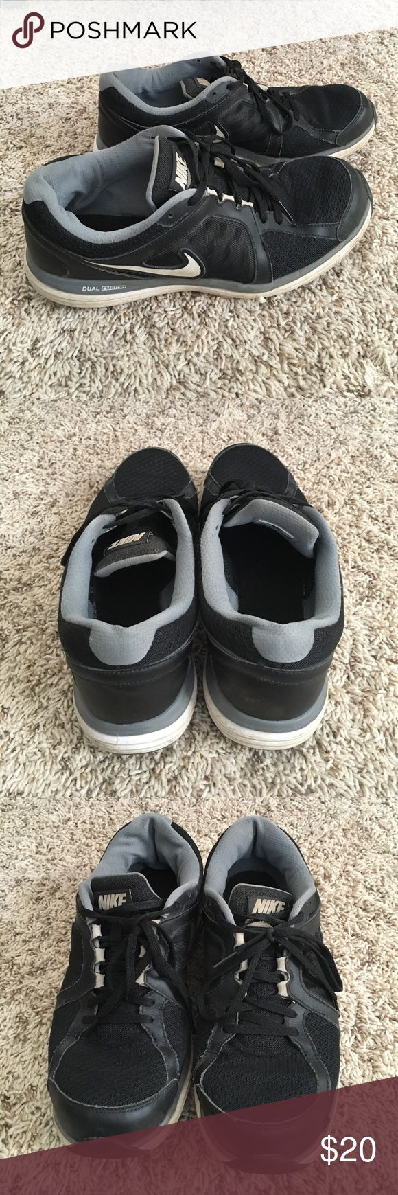 Black & White Nike DUAL Fusion Shoes Size 11.5 Size 11.5. Normal wear. Has some scuffs scratches Nike Shoes Sneakers