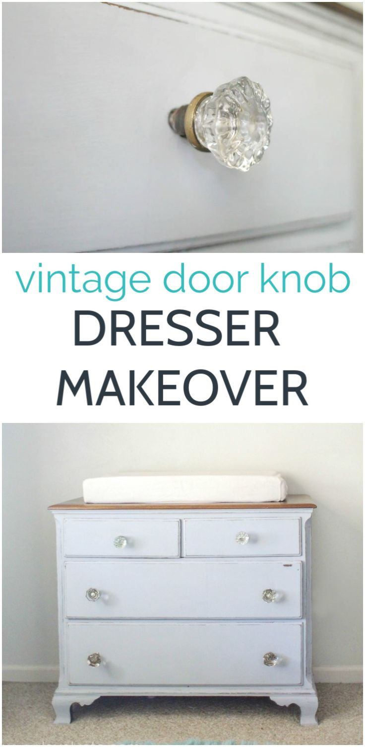 I've shared pictures of this little painted dresser in our nursery several times, but I don't think I have ever really s…