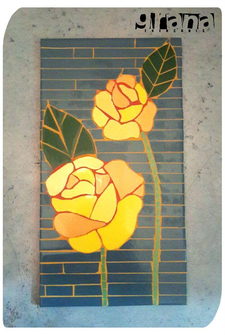 Rosas - mosaico.