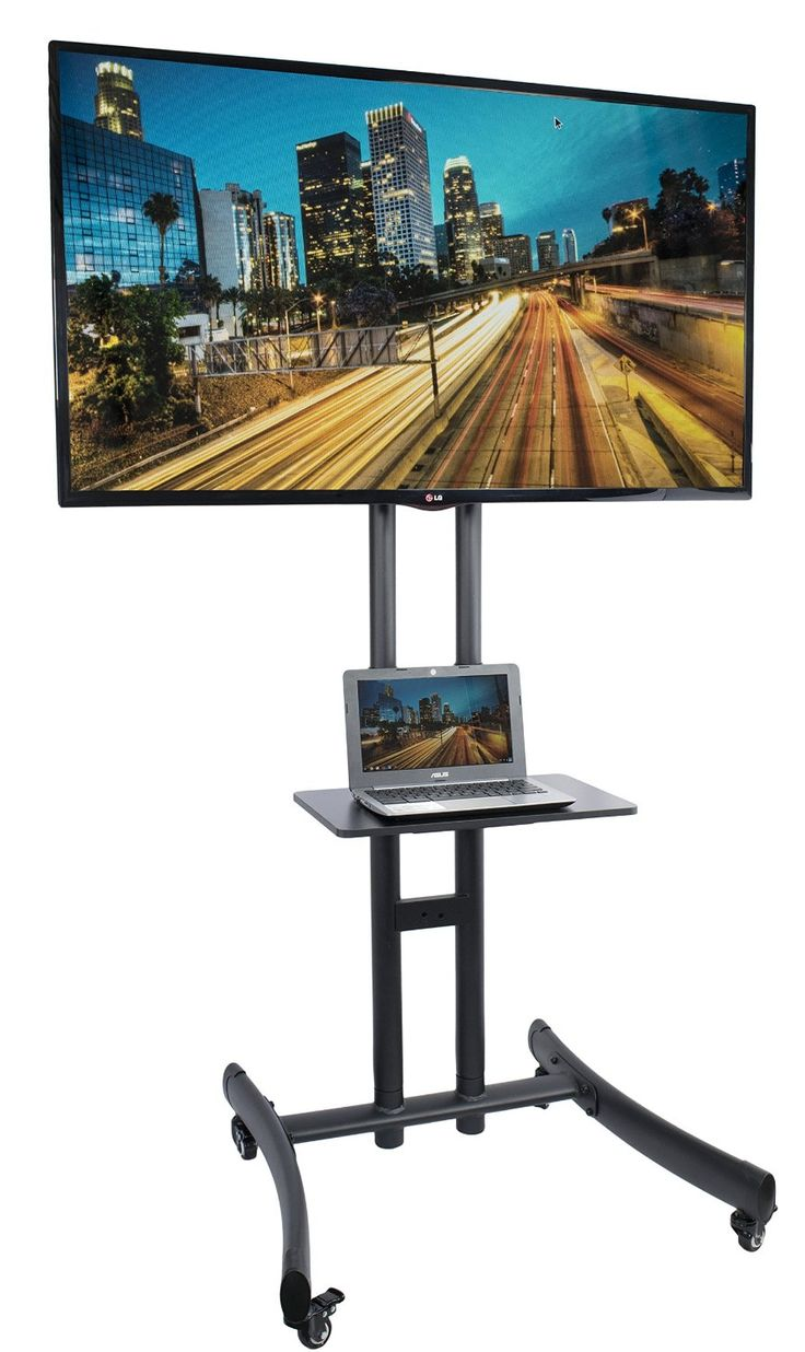 """Amazon.com: VIVO TV Cart for LCD LED Plasma Flat Panel Stand Mount w/ Mobile Wheels fits 30"""" to 70"""" Screens (STAND-TV06A): Home…"""