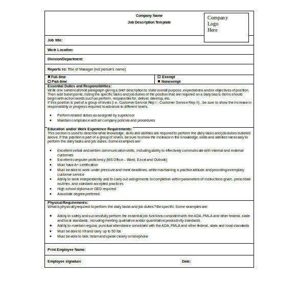 Daily Job Sheet Template Templates Company Job Job