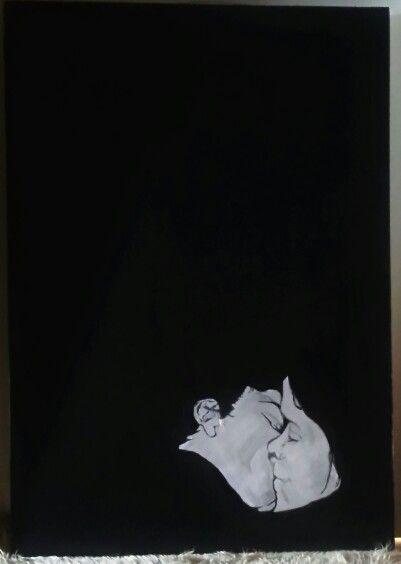 The kiss.My artwork on kanvas 80×100
