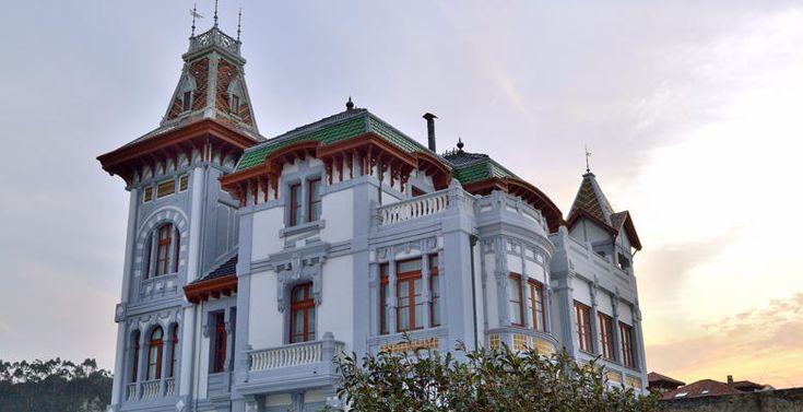 Asturias. Villa Rosario en Ribadesella. Casas de indianos