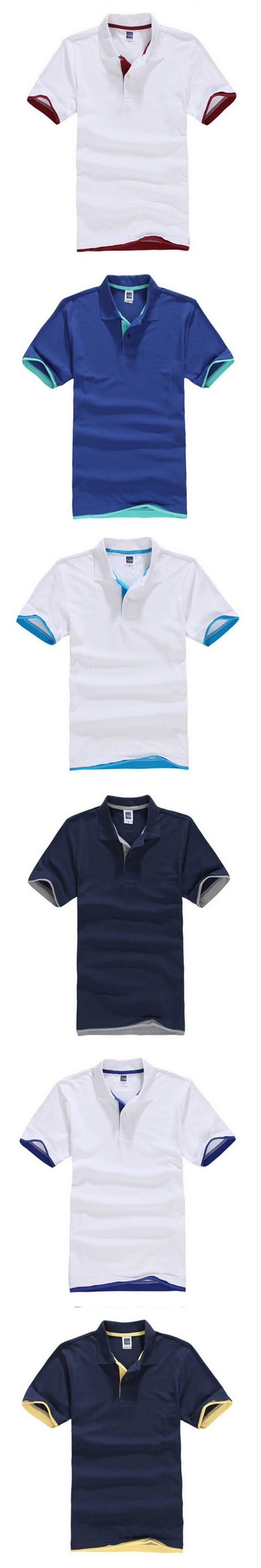 Brand cotton male large XXXL gray black white shirt breathable short sleeve men summer POIOS sales 2017 S ~ 3XL shirt