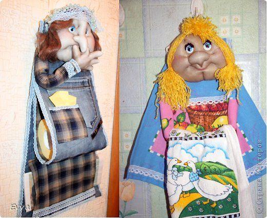 Куклы Шитьё Из старых джинсов Помощницы для мамы Капрон Проволока Сутаж тесьма шнур Ткань фото 1