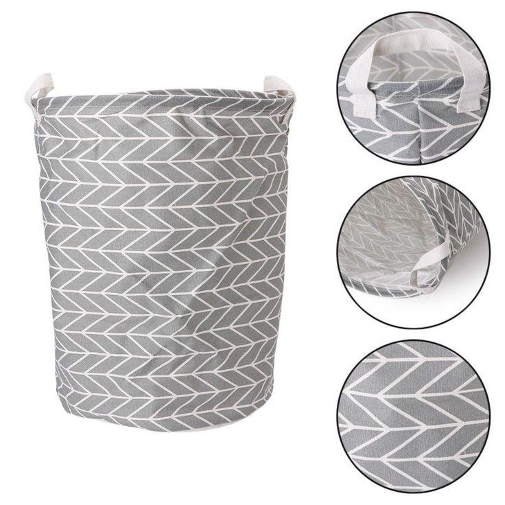 Foldable Washing Basket Laundry Hamper Clothes Storage Bag Baby Toy Organizer  | eBay