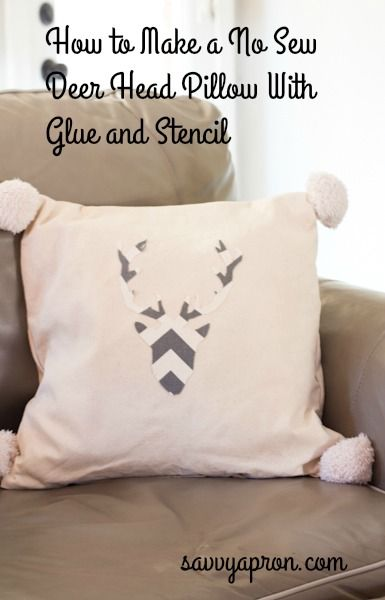 This is how I made a no sew deer pillow with fabric scraps, stencil, and glue. This project did not cost anything because I used items from my house.