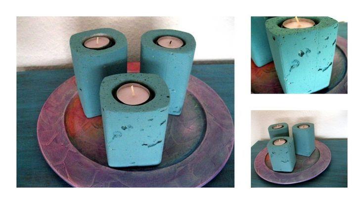 Beton Teelichthalter von Wandeldesign auf DaWanda.com