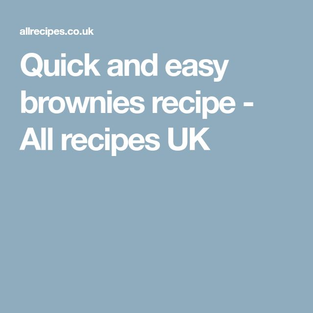 Quick and easy brownies recipe - All recipes UK